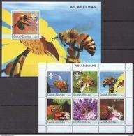 G174 2003 GUINE-BISSAU INSECTS ABELHAS BL+KB MNH - Insekten