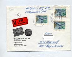 Lettre Recommandee Valeur Declaree  Bielefeld Sur Protection Nature - [7] Federal Republic