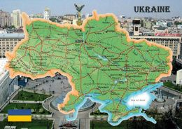 1 Map Of Ukraine * 1 Ansichtskarte Mit Der Landkarte Der Ukraine * - Landkarten