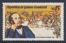 "Equatorial Guinea / Guinee Equatorial 1979 Overprint / Aufdruck ""LONDON 1980"" - ""The Mulready Wrapper"" (1840 - Rowland Hill"