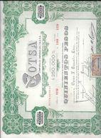 COTSA COMPAÑIA DE OMNIBUS DEL TALA SA BUSES COLECTIVOS OMNIBUSES AÑO 1949 MONTEVIDEO URUGUAY RARE CON TIMBRE FISCAL - Transporte