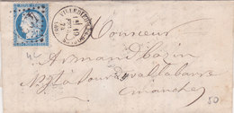 383 - LAC - CERES 60 - 19.2.74  -  VILLEDIEU LES POELES  à  AVRANCHES - Postmark Collection (Covers)