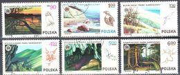 Poland 1976 - National Parks - Mi.2445-50 - Used - Usados