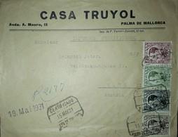 1931. Alfonso XIII. CERTIFICADO IMPRESOS Cuatricolor (Ed. 491, 492, 493 Y 496) Palma De Mallorca A Austria. - 1889-1931 Kingdom: Alphonse XIII