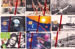 LOT  9 TELECARTES FRANCE NEUVES SOUS BLISTER - Phonecards