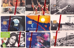 LOT  9 TELECARTES FRANCE NEUVES SOUS BLISTER - Lots - Collections