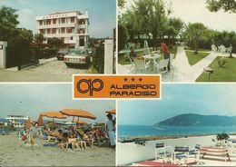 "Marina Di Carrara (Toscana) Viale Colombo, ""Albergo Paradiso"" Vedute Esterne Ed Interne, ""Paradiso Hotel"" - Carrara"