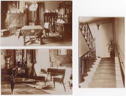 3 Ansichtskarten; Insel Schwechat - Interiör , 1930's - (Schloss, Palast, Hotel ???) - Sehe Scans !! - (N.Ö.) - Bruck An Der Leitha