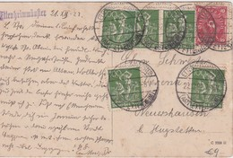 ALLEMAGNE 1922 CARTE DE ETTENHEIMMÜNSTER - Storia Postale