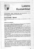 Latems Kontaktblad Nr. 7 - Augustus 1976 -  (Tweemaandelijkse Uitgave) - Magazines & Newspapers