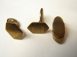 MW. 173. Boutons De Manchettes Et Pince  à Cravette. Poinçon DRGM - Jewels & Clocks