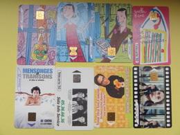 Lot De 8  Cartes France Telecom (cinéma, Sida, Dessin Enfants,...) - Phonecards