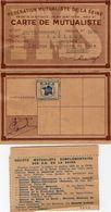 VP11.892 - 1955 - PARIS - Fédération Mutualiste De La Seine - Carte De Mutualiste Mr J.PARISOT à COLOMBES - Cartes