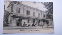 Carte Postale (z2) Ancienne De Allerey , La Gare Vue De La Facade - France