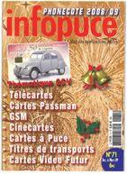 Revue Infopuce Decembre 2008 N° 71 - Phonecards