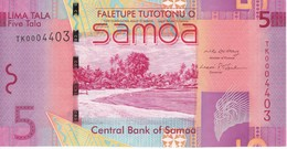 BILLETE DE SAMOA DE 5 TALA DEL AÑO 2008 (BANK NOTE) SIN CIRCULAR-UNCIRCULATED - Samoa