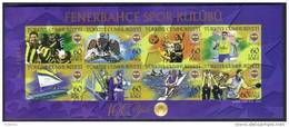 2007 TURKEY THE CENTENARY OF FENERBAHCE SPORTS CLUB IMPERFORATED SOUVENIR SHEET MNH ** - 1921-... Repubblica