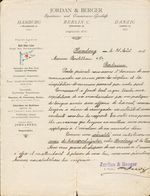 Allemagne - Hambourg - Entête 31/8/1896 - Jordan & Berger - Speditions Und Commissions-Geschäft - Hamburg/Berlin/Danzig - 1800 – 1899