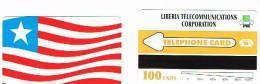 LIBERIA  - LTC  (URMET) - 1995 LIBERIAN FLAG  100 UNITS - MINT (UNUSED)  -  RIF. 764 - Liberia