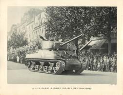 Photo  : UN CHAR DE LA DIVISION LECLERC APARIS - Guerre 1939-45 - Guerra, Militari