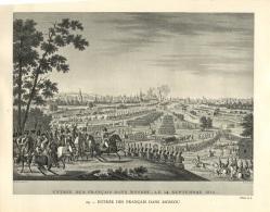 Photo  : ENTREE DES FRANCAIS DANS MOSCOU - 14 SEPTEMBRE 1812 - Photo A.J. - Guerra, Militari
