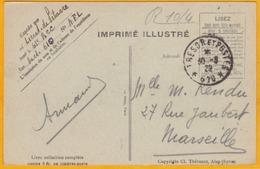 1920 - CP Armée D'Orient En Franchise Militaire Du SP 520  Pour Faverges - Vue De Zahleh, Mont Liban - Trésor Et Postes - Marcophilie (Lettres)