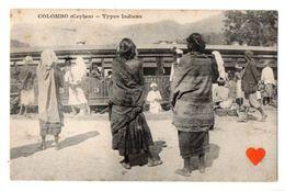 00393-LE-SRI LANKA-COLOMBO (Ceylan)-Types Indiens-------------animée-train - Sri Lanka (Ceylon)