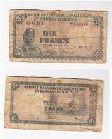 Dix Francs Congo  1955 - République Démocratique Du Congo & Zaïre