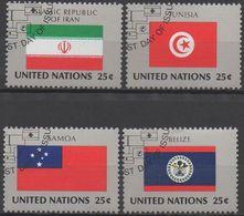 NATIONS-UNIES  ( New-York)  N°533 A 536__OBL  VOIR SCAN - New-York - Siège De L'ONU