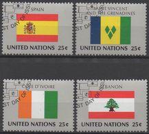 NATIONS-UNIES  ( New-York)  N°521 A 524_OBL  VOIR SCAN - New-York - Siège De L'ONU