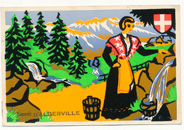 ALBERVILLE - CARTE EN VELOUR - SOUVENIR D'ALBERVILLE - Albertville