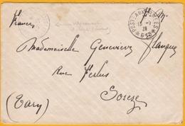 1928 - Armée Du Levant, Enveloppe Du SP 615, Alep, Syrie Vers Sorèze, Tarn - Cad Du Vaguemestre D' étape Et D' Arrivée - Marcophilie (Lettres)