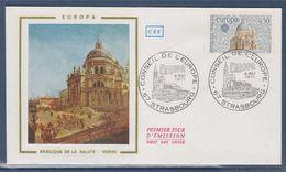 = Europa 1971 Sauvegarde De Venise, 8 Mai 71 Enveloppe Strasbourg, Basilique De La Salute à Venise N°1676 - 1971
