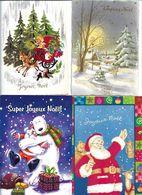 Lot De 150 Cp Bon Noel  Meilleur Voeux  Bonne Annee De Differents Modeles   Voir Scan Pour Exemple - 100 - 499 Postcards