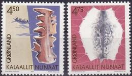 Groenland 2000 Yvertn° 330-331 *** MNH Cote 4,00 Euro Patrimoine Culturel - Neufs