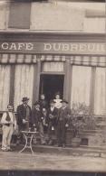 Carte Photo à Identifier - Café Dubreuil (animation) à Montcenis (71) ?????? Pas Circulé, Pas D'indication Au Verso - A Identifier