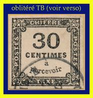 TAXE N° 6 NON DENTELÉ 1871-1878 - OBLITÉRÉ TB - VOIR VERSO - - Taxes