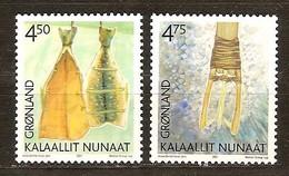 Groenland 2001 Yvertn° 346-347 *** MNH Cote 4,00 Euro Patrimoine Culturel - Groenland