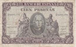 BILLETE DE ESPAÑA DE 100 PTAS DEL 9/01/1940 SERIE B  EN CALIDAD BC  (BANKNOTE) - [ 3] 1936-1975 : Regency Of Franco
