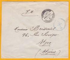 1944 - Enveloppe En FM De Damas, Syrie Vers Alger, Algérie - Forces Françaises Libres - Cad Arrivée - Marcophilie (Lettres)