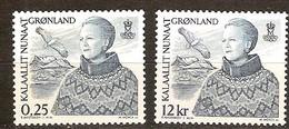 Groenland 2001 Yvertn° 348-349 *** MNH Cote 5,00 Euro Reine Margrethe II - Groenland