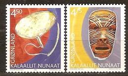 Groenland 2002 Yvertn° 357-358 *** MNH Cote 3,50 Euro Patrimoine Culturel - Neufs