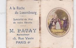 Petit Calendrier De Poche 1924 Illustration Scène Galante   Pub  Patay Apiculteur -15. Rue Vavin Paris 6ème 75 - Calendars