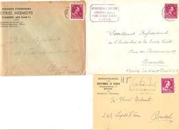 TP 724 N-R S/5 L. St.Lenaerts-Zaventem-Fexhe Le Haut Clocher-Brugge-Vlissengen-Den Haan 1946 V.BXL 1646 - 1946 -10 %