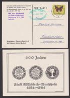 Markisch-Buchholz  Halbe Postkutschenbeförderung 1964, Schmuckkkarte 600 Jahre Stadt, Mit Grünem Eing.-St. - [6] Democratic Republic