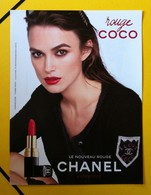 Chanel - Publicité Maquillage - Keira Knightley - Rouge Coco - Perfume Cards