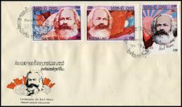 28 - Laos 1983  Y&T 511/513  Mi# 688/690  Sur FDC - Laos