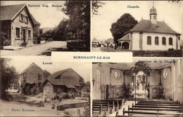 Cp Burnhaupt Le Bas Niederburnhaupt Haut Rhin, Epicerie Maurer, Chapelle, Lavoir - France