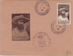 COTES DU NORD - Dinan - Carte Postale -CAD - Centenaire D'Auguste Pavie- Cachet Commémoratif - 1947 - Gedenkstempels