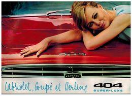 PEUGEOT 404 COUPE CABRIOLET ET BERLINE CATALOGUE 10 PAGES 1966 Format A4 FRANCE - Advertising